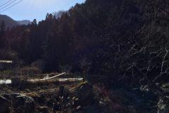 寺沢集落から山を振り返る